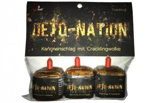 Deto-Nation 3er Pack kubische Kanoneschläge